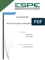 Informe Plan de Vuelo Conocoto