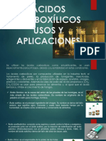 Ácidos Carboxílicos Usos y Aplicaciones