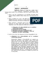 Reply Affidavit Depamallo