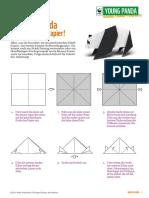 Faltanleitung Origami-Panda