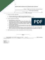 0211-09-01 Illegal or Prohibited Drugs_Substances Affidavit_ Declaration