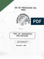 Test de Diagnostico Pre-escolar - MANUAL