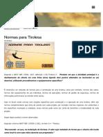 Normas Para Tirolesa - Guia Vertical Notícias