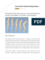 Obat Osteoporosis Alami Terbaik Paling Ampuh dan berkualitas