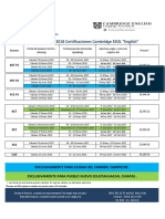 Calendario Exámenes 2017-2018