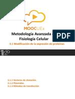 3.1 Modificación de La Expresión de Proteínas