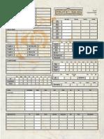 D3E Character Sheet 3-5