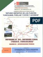 Puente Yunculmas - Vol. 02 - Especificaciones Tecnicas