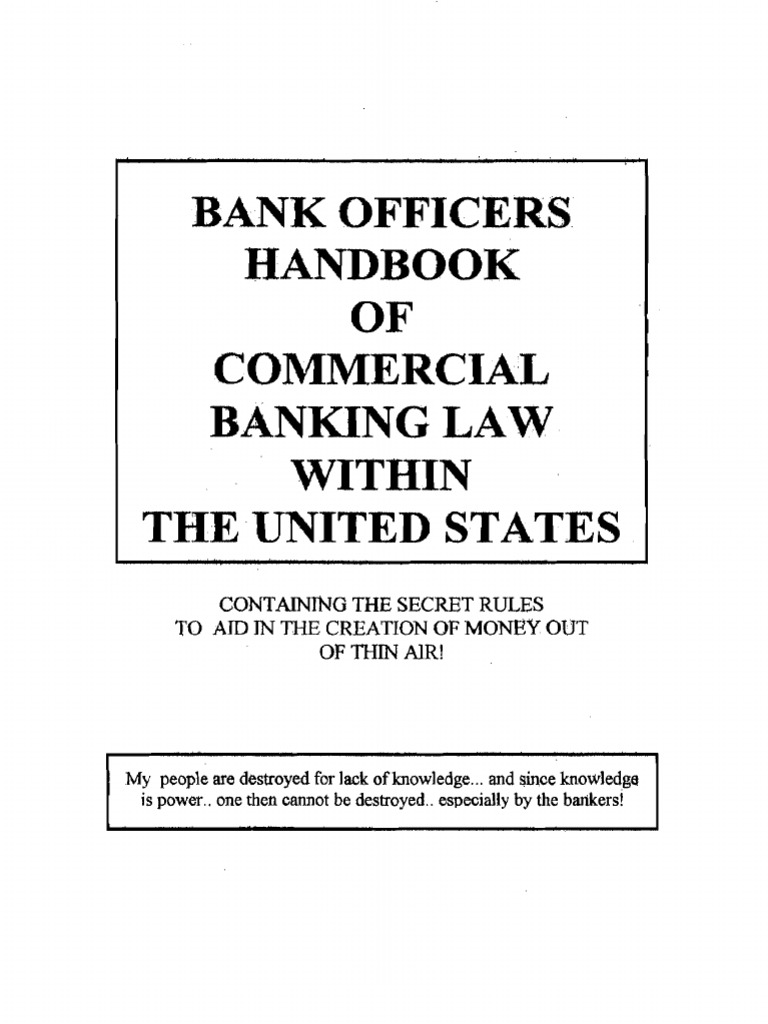 Bank officers handbook of commercial banking law in usa 6th ed1 fandeluxe Gallery