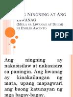 m1 Aralin 1.2 Ang Ningning at Ang Liwanag