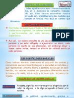 Diaposit. Valores Morales y Antivalores