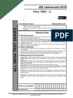 Aits 1718 Ft II Jee Advanced Paper 2
