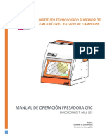 Avance Manual de Cnc Emco Mill 105