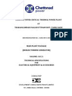1320 MW Specifications for Electrical Packages