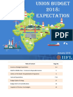 IIFL Union Budget 2018-19 Expectations