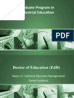 Graduate Program in Industrial Education