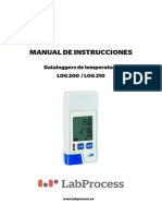 Manual - Datalogger de Temperatura Log 200 - Log 210 - Labprocess - Esp v 1.1