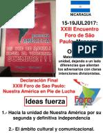 1 XXIII Foro de São Paulo