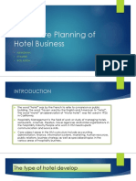 The Future Planning of Hotel Business