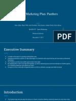 sport marketing plan  panthers
