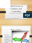 Ethical Issues in Guidance and Counselling