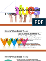 Brown's Values-Based Theory Career Guidance