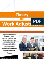 Theory on Work Adjustment Report Career Guidance