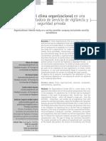 Clima Organicional en Empresa de Seguridad