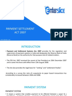 Payment and Settlement Systems Act