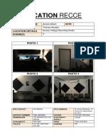 Studio Location Recce Access
