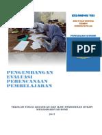 Pengembangan Evaluasi Perencanaan Pembelajaran