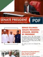OFFICE OF THE SENATE PRESIDENT. JANUARY 19TH, 2018. NEWSLETTER