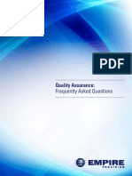 Quality Assurance FAQ