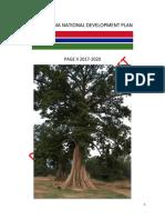 National Development Plan- 2017-2020 The Gambia