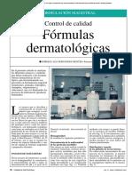 Control Formas Dermatológicas