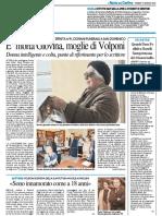 E' morta Giovina, moglie di Volponi - Il Resto del Carlino del 19 gennaio 2018