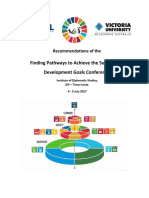 Recommendations from the 2017 UNTL-VU Conference on the SDG