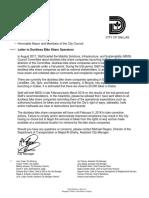 Letter to Dockless Bikeshare Operators