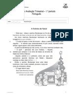 Ficha Avaliação Trimestral 1º Período Português