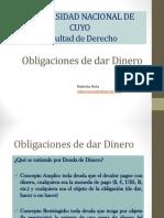 Obligaciones de Dar Dinero 2016