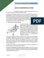 1 Er Trabajo Evolución Del Transporte en El Peru