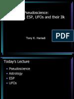 Basic Natural Sciences - Pseudoscience