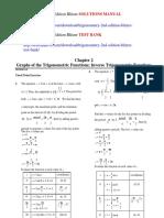 Trigonometry 2nd Edition Blitzer Solutions Manual