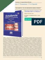Ortodoncia Diagnóstico y Tratamiento 2 Vol Spanish Edition Gurkeerat
