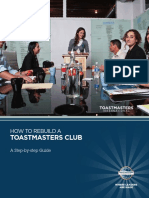1158 How to Rebuild a Toastmasters Club