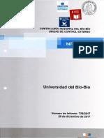 Informe Final 728-17 Universidad Del Bío-bío Auditoría Al Sistema de Perfeccionamiento Académico - Diciembre 2017