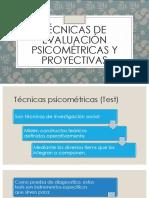 Técnicas de Evaluación Psicométricas y Proyectivas Tarea