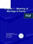 Chapter 1 - Meaning of Marriage Family