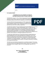 Fcc Statement - 2018 Broadband Deployment Draft Report
