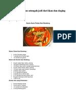 Resep Makanan Setengah Jadi Dari Ikan Dan Daging Docx